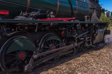 restored: A restored steam engine Locomotive still journeys in outback South Australia Editorial