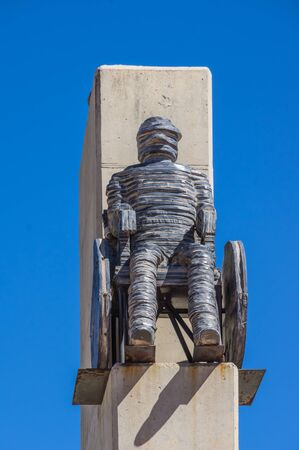 apartheid in south africa: Soweto South Africa 28 March 2016 The Walter Sisulu Square of Dedication. Statue of  All National Groups Shall Have Equal Rights