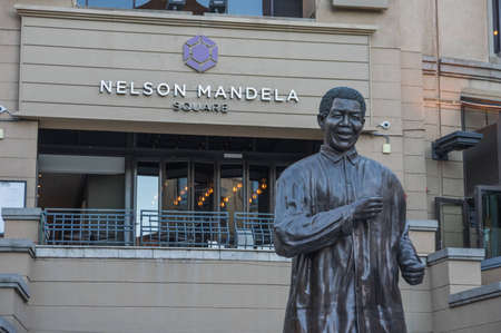 mandela: Sandton Johannesburg 29 March 2016 The Nelson Mandela Square is a public space and shopping area