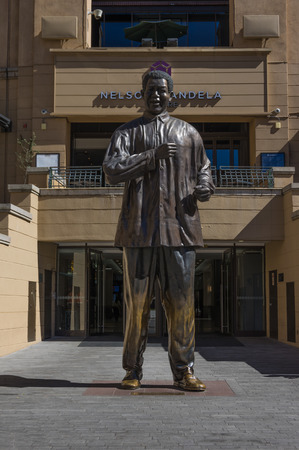johannesburg: Sandton Johannesburg 27 March 2016 The Nelson Mandela Square is a public space and shopping area