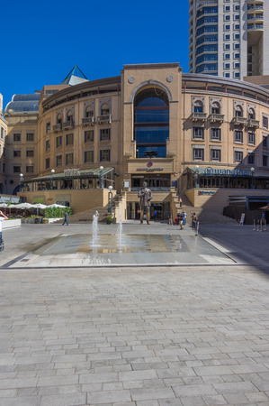 nelson: Sandton Johannesburg 27 March 2016 The Nelson Mandela Square is a public space and shopping area
