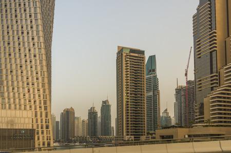 global city: Dubai United Arab Emirates 14 May 2014  Beautiful  Buildings  in the global city of Dubai