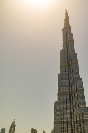 global city: Dubai United Arab Emirates 14 May 2014  Beautiful  Burj Khalifa in the global city of Dubai