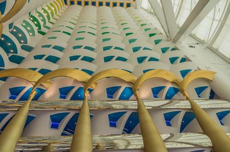 global city: Dubai UAE 14 May 2014   Burj Al Arab Jumeirah in the global city of Dubai