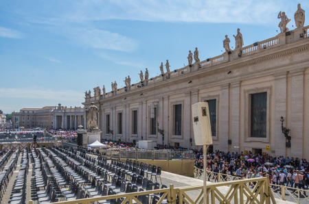 Vatican City Italy 10 May 2014 , The The Papal Basilica of St. Peter in the Vatican, or simply St. Peters Basilica
