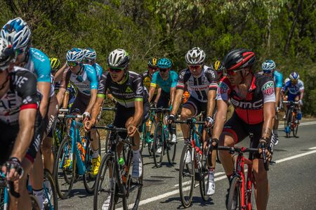 adelaide: Adelaide South Australia 17 January 2017 The first stage of the Tour Down Under was gruelling in the 40 degree celsius heat Editorial