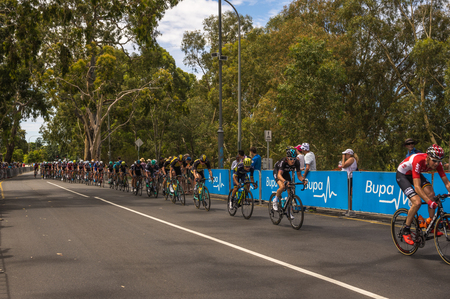 adelaide: Adelaide South Australia 22 January 2017 The last stage of the Tour Down Under races around the street circuit of central Adelaide