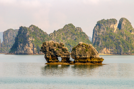 Halong Bay area in North Vietnam attracting tourist from all over the world