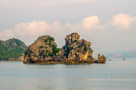 Halong Bay is a World Heritage area in North Vietnam attracting tourist from all over the world