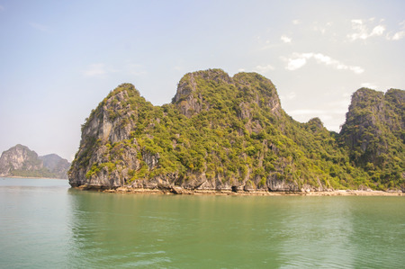 Halong Bay in North Vietnam attracting tourist from all over the world Stock Photo