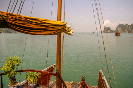 Halong Bay  area in North Vietnam Stock Photo