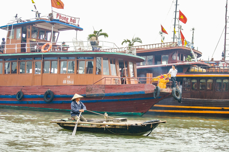 Halong City Vietnam 13 April 2009 Halong Bayarea in North Vietnam attracting tourist from all over the world Editorial