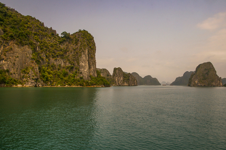 Halong Bay  area in North Vietnam attracting tourist from all over the world Stock Photo
