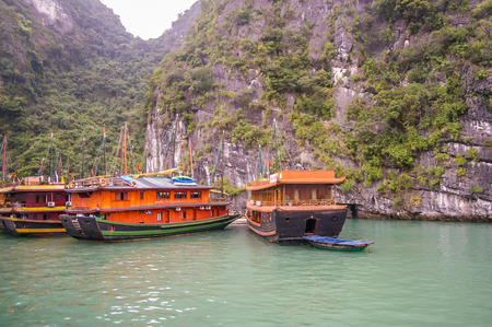 Halong City Vietnam 13 April 2009 Halong Bay is a World Heritage area in North Vietnam attracting tourist from all over the world