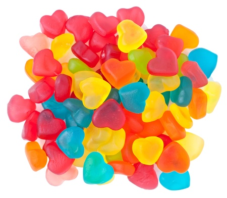 scattered in heart shaped: heart-shaped candies