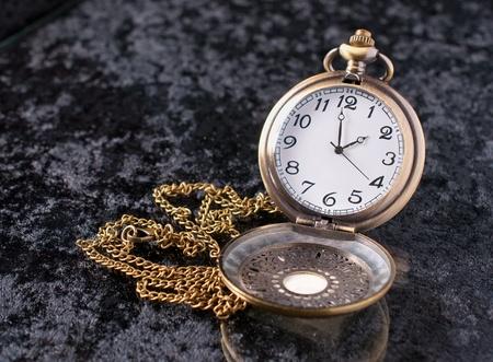 velvet background: a classic pocket watch on velvet background