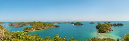 panorama of Hundred Islands National,Alaminos,Pangasinan,Philippines