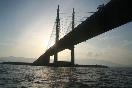 longest: The Penang Bridge , longest bridge in south east asia Stock Photo