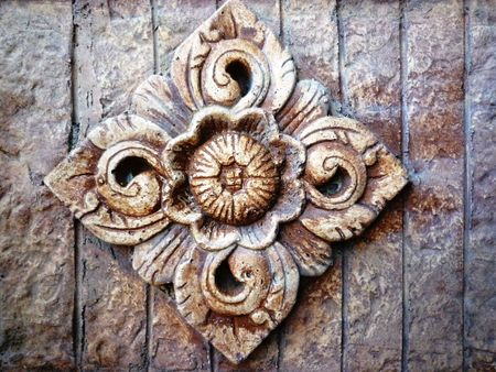 indonesia culture: Balinese stone carving on sandstone
