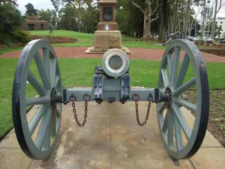 rectification: An ancient English cannon at the botanical garden