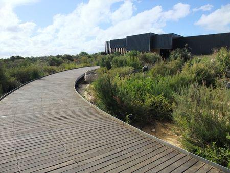 pin�culo: A la pasarela en el centro interpretativo de Pinnacle, Australia Foto de archivo