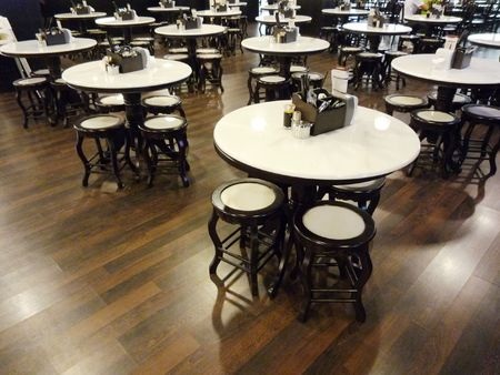 A cafe restaurant with old fasion table and chair in Penang malaysia photo