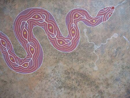 aboriginal: Arte ind�gena (tambi�n conocida como arte aborigen) es arte realizadas por abor�genes australianos Foto de archivo