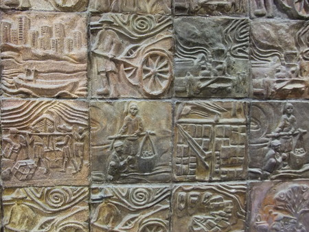 craving: Stone craving  art wall tile texture background