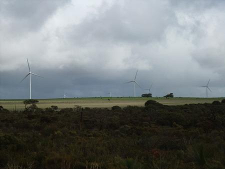 pinnacle: Wind Farm near Pinnacle in Western Australia Stock Photo