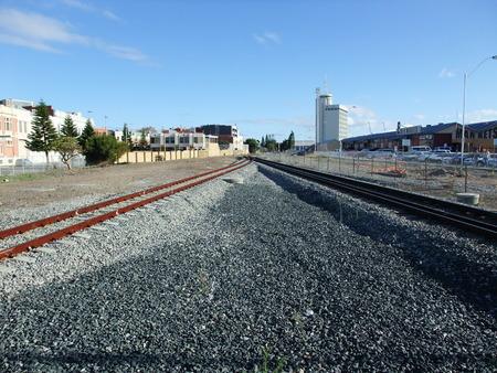 ravel: Railway road at Fremantle in Western Australia Stock Photo