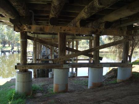 beneath: Beneath the wooden bridge