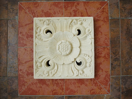 balinese: traditional Balinese stone carving on sandstone