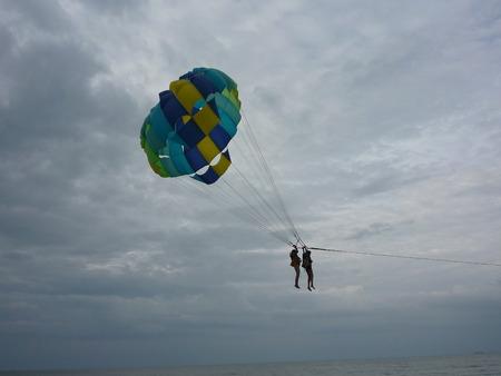 penang: Parasailing at the  beach in Penang, Malaysia