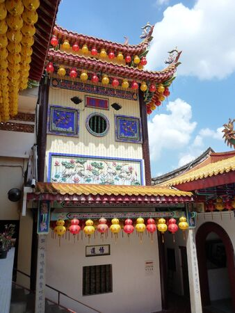 architectural tradition: Kek Lok Si buddhist temple in Penang, Malaysia Stock Photo