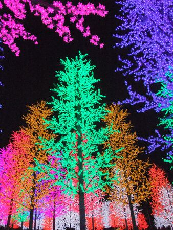 shah: Colorful digital light in I-City Shah Alam, Malaysia