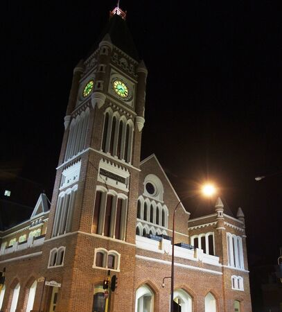 western australia: Church at night in Perth of Western Australia