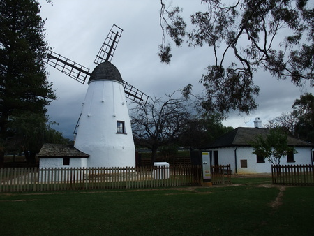 old white stone wind mill in Perth of western Australia