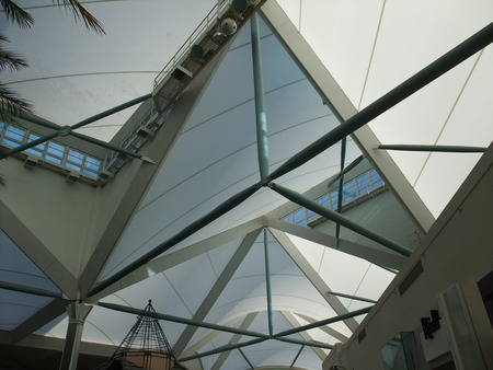 roof beam: Steel Beam roof structure in one of the mall in Perth