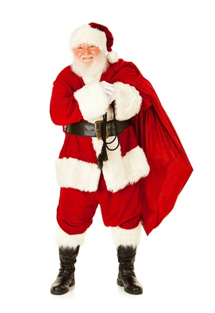 Extensive series of an isolated on white, Caucasian, authentic Santa Claus. Stock Photo - 22057654