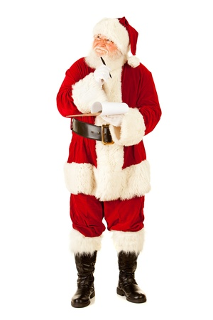 Extensive series of an isolated on white, Caucasian, authentic Santa Claus. Stock Photo - 22057671