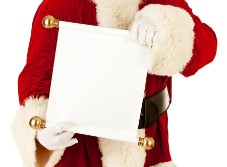 Extensive series of an isolated on white, Caucasian, authentic Santa Claus. Stock Photo - 22057674