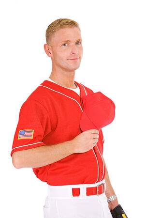 allegiance: Baseball Player Saying Pledge Of Allegiance