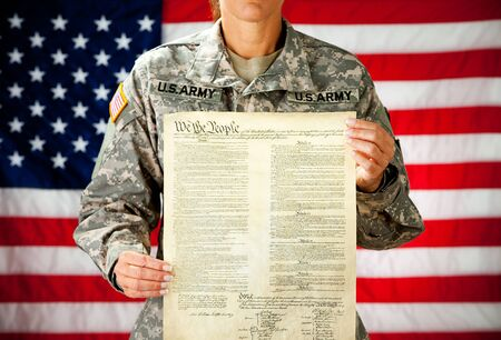 us constitution: Soldier: Proud of the US Constitution