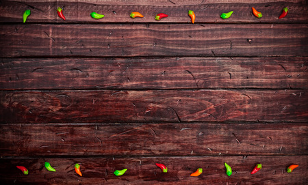 Cinco De Mayo Background With Tiny Chile Peppers Standard-Bild