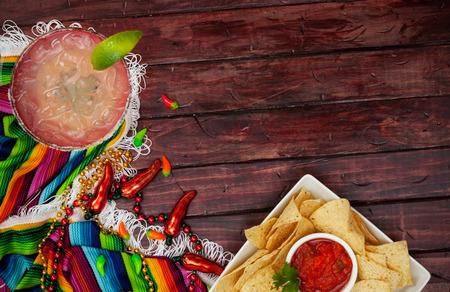 Cinco De Mayo Background With Margarita