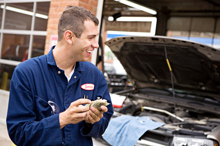 counts: Mechanic: Greedy Mechanic Counts Money
