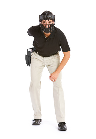 an umpire: Baseball: Umpire Waits for the Pitch