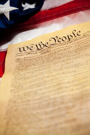 Series featuring We the People - the United States Constitution. Stock Photo