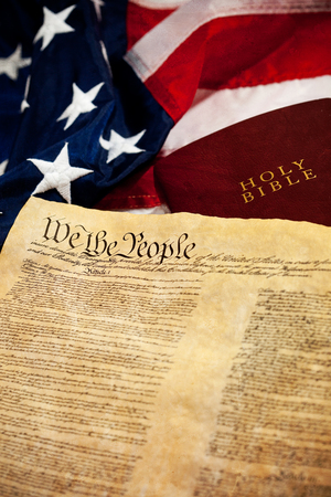Constitution: US Constitution, Flag and Bible
