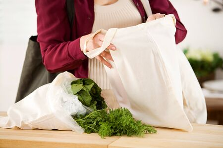 reusable: Reusable: Removing Food From Reusable Fabric Bags